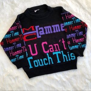 Sweaters - Vintage 80s 90s MC Hammer sweater ex-small/small